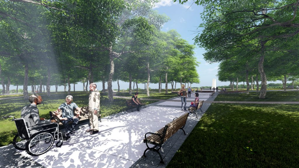 Artist's rendering of The Vimy Foundation Centennial Park designed by Linda Dicaire, Landscape Architect.