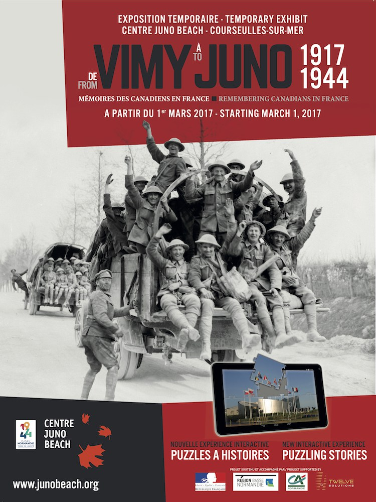 "1 March 2017 - 31 December 2018 - Juno Beach Centre - Temporary Exhibitions ""From Vimy to Juno: Remembering Canadians in France"""