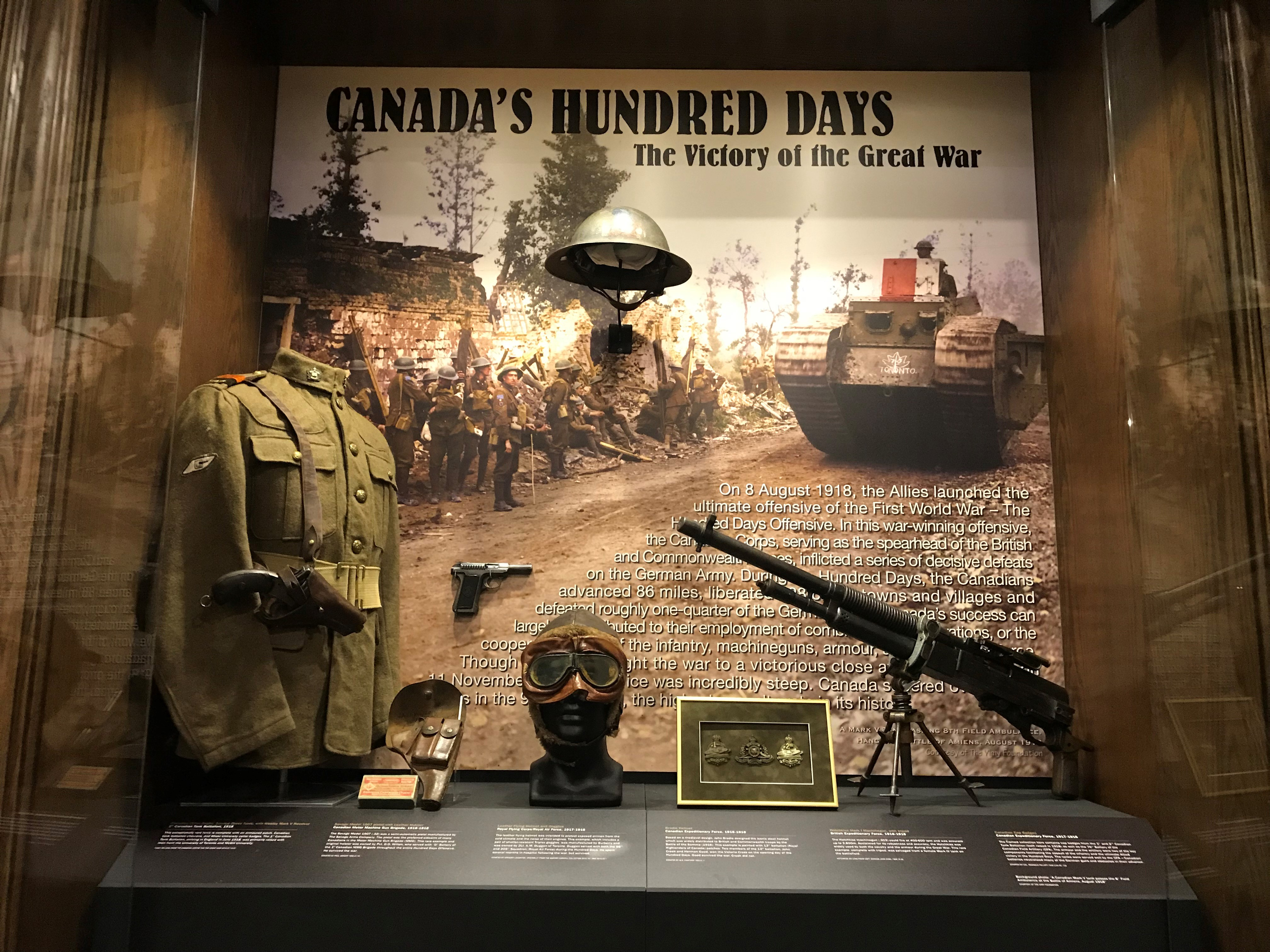 10 November 2018 - 1 April 2019 - Toronto, ON - Canada's Hundred Days: The Victory of the Great War