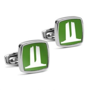 Vimy Green Monument Cufflinks - New Square